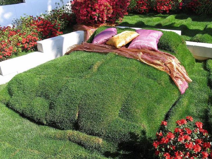 מיטות מוזרות: מיטה מדשא