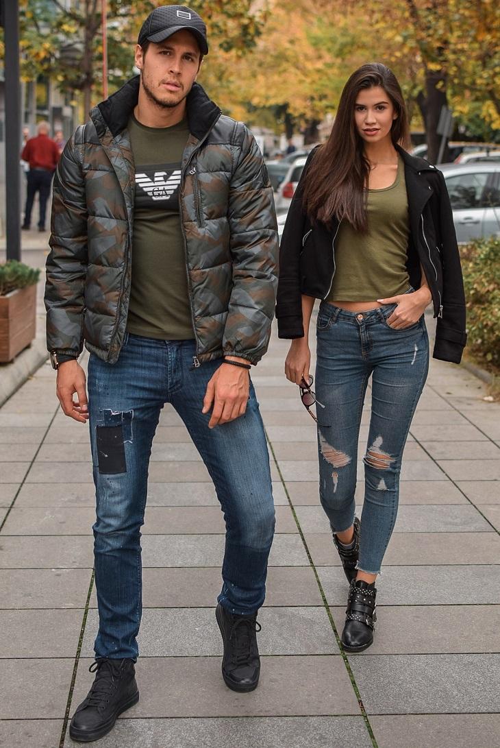 טרנדים באופנה: זוג צעיר
