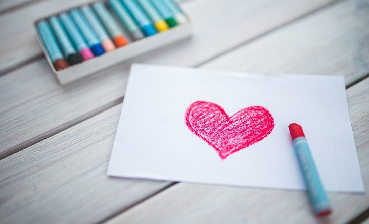 אורח חיים בריא: ציור של לב