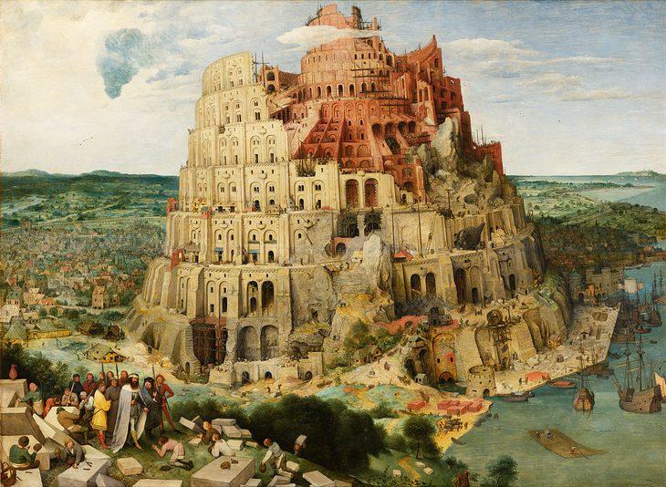 סיפורים מאחורי ציורים מפורסמים: מגדל בבל