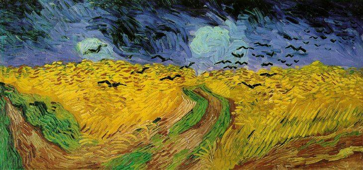 סיפורים מאחורי ציורים מפורסמים: שדה חיטה עם עורבים