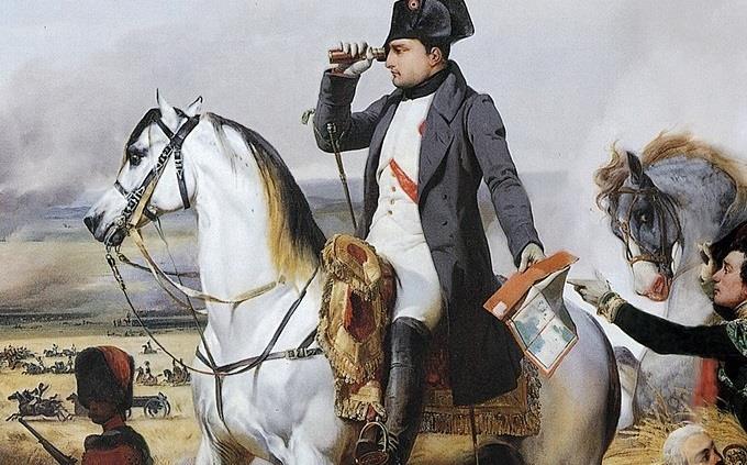 טריוויה של ידע כללי: ציור של נפוליאון רכוב על סוס לבן