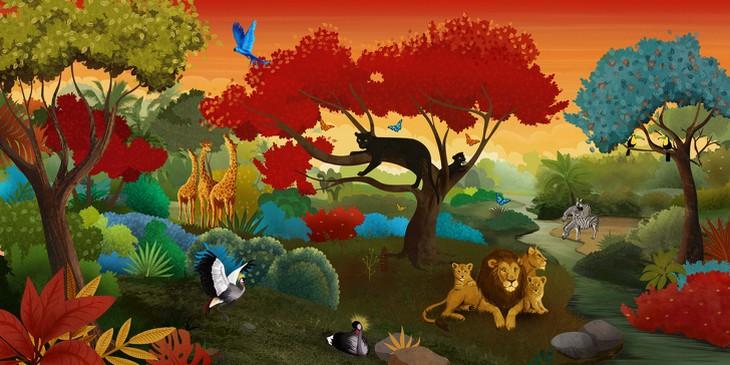 מבחן אישיות מה מטריד אותך: תמונה מצוירת של חיות ביער