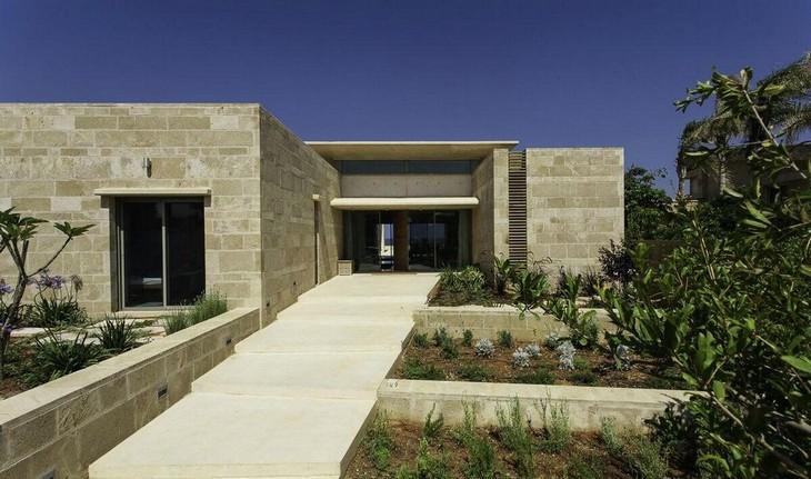 מידע על אבן כורכר: בית מגורים מעוצב