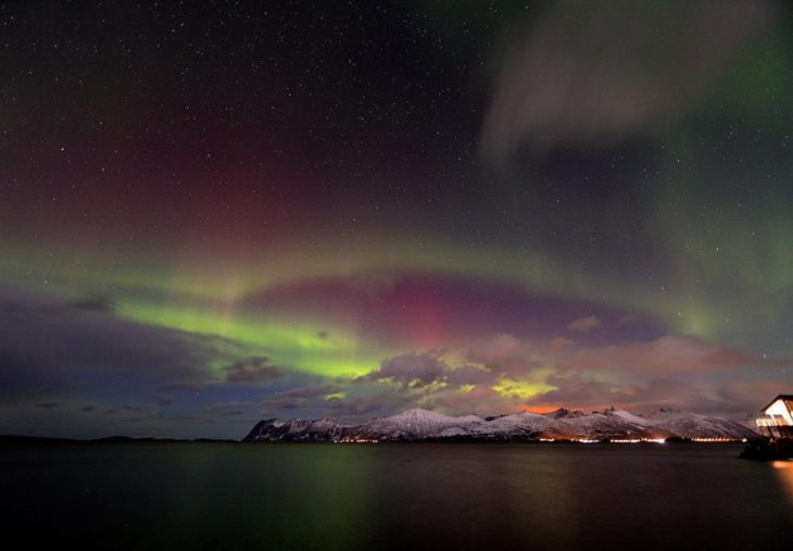 נורווגיה לפי אזורים: הזוהר הצפוני בצפון נורווגיה