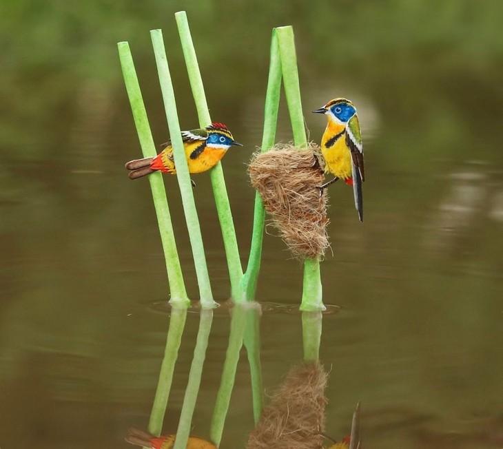 חיות נייר קטנות ומקסימות: ציפורים מעל מים