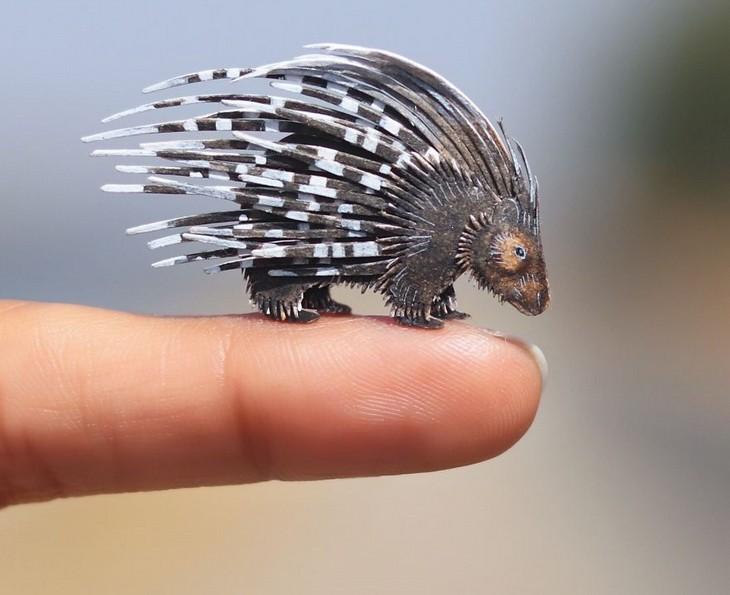 חיות נייר קטנות ומקסימות: דורבן