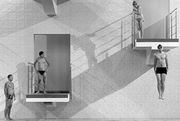 תמונות מתחרות הצילום השנתית של סיינה: ספורטאים מסתכלים על אדם הקופץ ממקפצה
