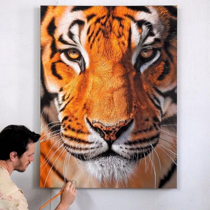 ציורי חיות מדהימים: ניק מצייר טיגריס