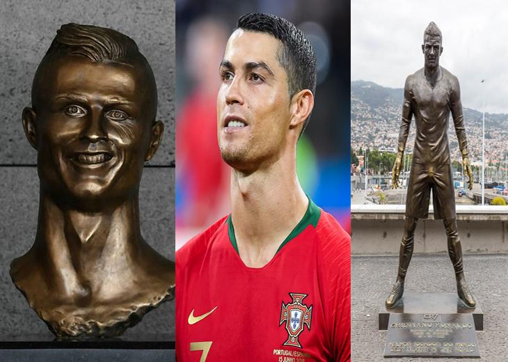 פסלי הוקרה שלא דומים למקור: כריסטיאנו רונאלדו ושני פסליו המצחיקים