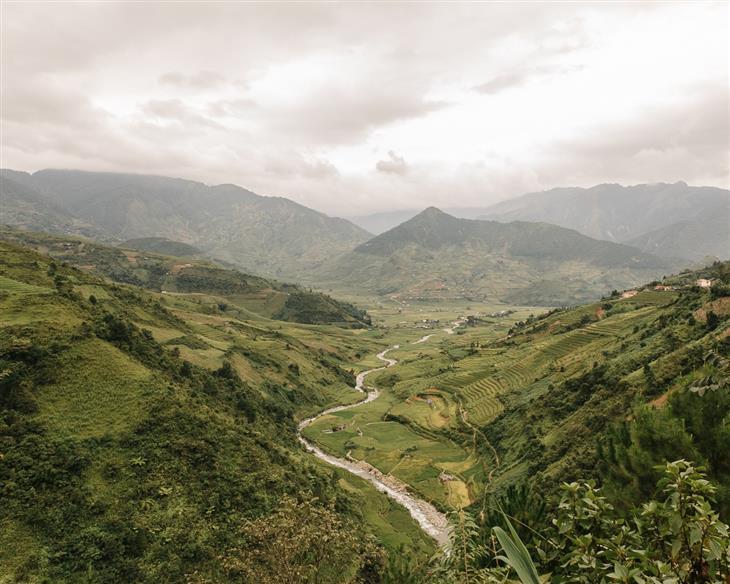 צפון ויאטנם: נהר שעובר במחוז מו קאנג צ'אי