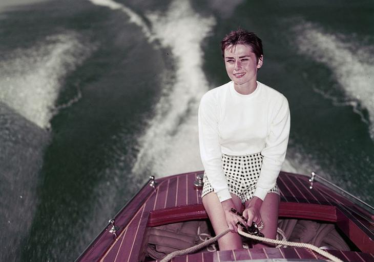 ציטוטי אודרי הפבורן: אודרי הפבורן על סירה