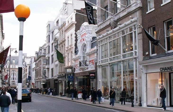מרכזי קניות מומלצים באירופה: בונד סטריט, לונדון, אנגליה