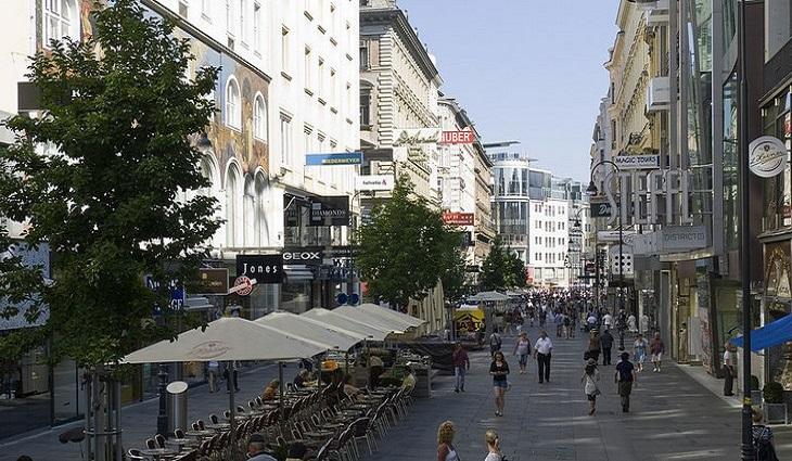 מרכזי קניות מומלצים באירופה: קרנטנר שטראסה, וינה, אוסטריה