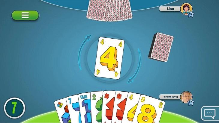 אפליקציות משחקי קלפים: צילום מסך של המשחק TAKI