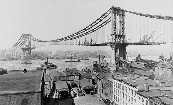 אתרים מפורסמים בזמן בנייתם: גשר מנהטן בניו יורק