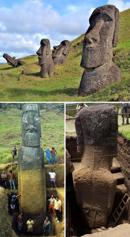 מאחורי הקלעים של דברים שונים: פסלי ראשי האבן - מואי, וחפירות סביבם