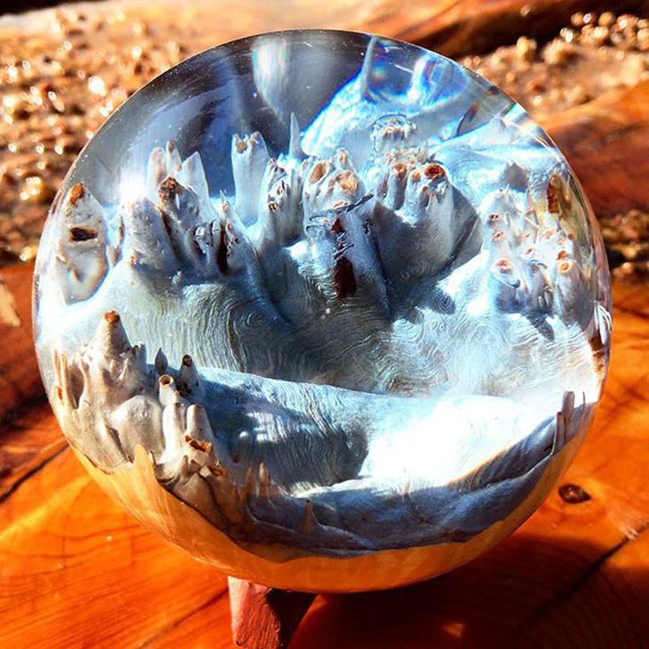 יצירות הרים משרף עץ: