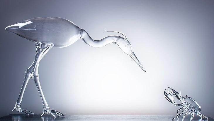 יצירות זכוכית של סימון קרסטני: פסל חיות מזכוכית