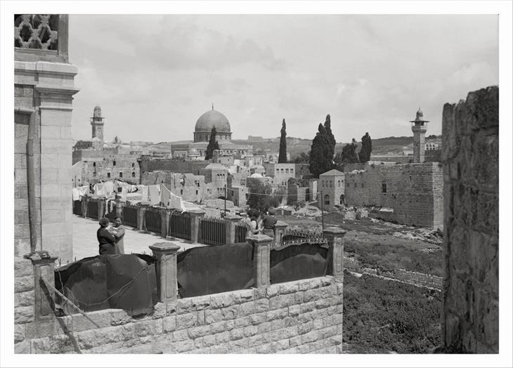 תמונות מהתקופה המנדטורית: תמונה המציגה את כיפת הסלע מכיוון דרום מזרח, 1931.