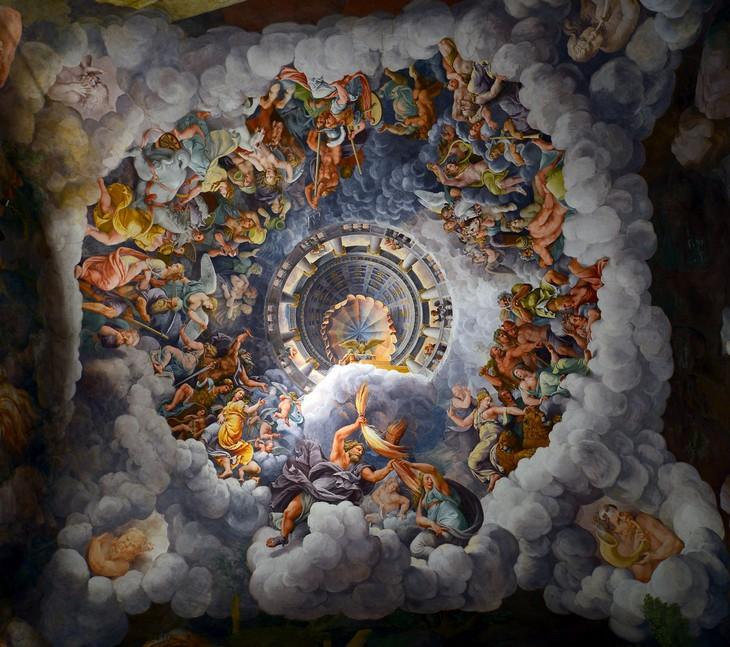 תמונות מפתיעות של דברים לא שגרתיים: ציור התקרה במוזיאון פאלאצו דל טה שבעיר האיטלקית מנטובה.
