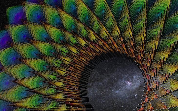 יצירות ענק מדהימות מחוטים צבעוניים