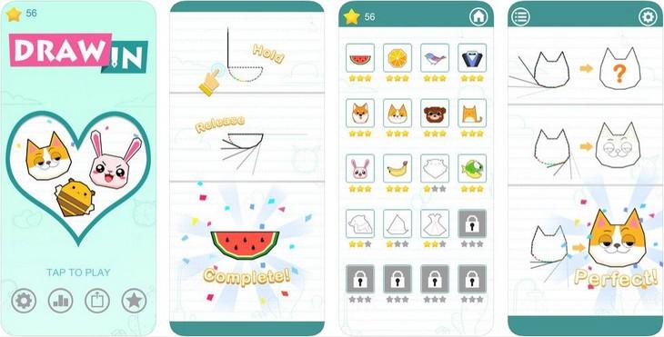 אפליקציות ציור וצביעה: מסכי האפליקציה צייר ב..