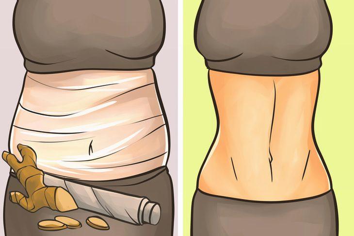 חיטוב העור בעזרת עטיפת הגוף: עטיפת גוף עם ג'ינג'ר