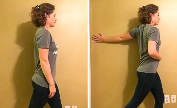 סדרת תרגילים לשחרור צוואר: תרגיל לשחרור שרירי הזרוע
