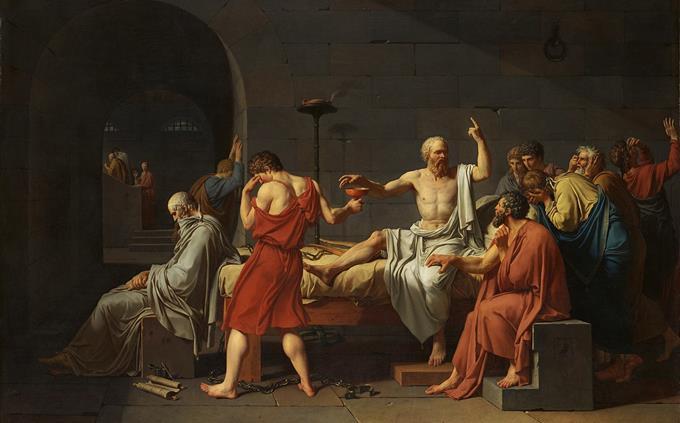 טריוויה: הציור מותו של סוקרטס