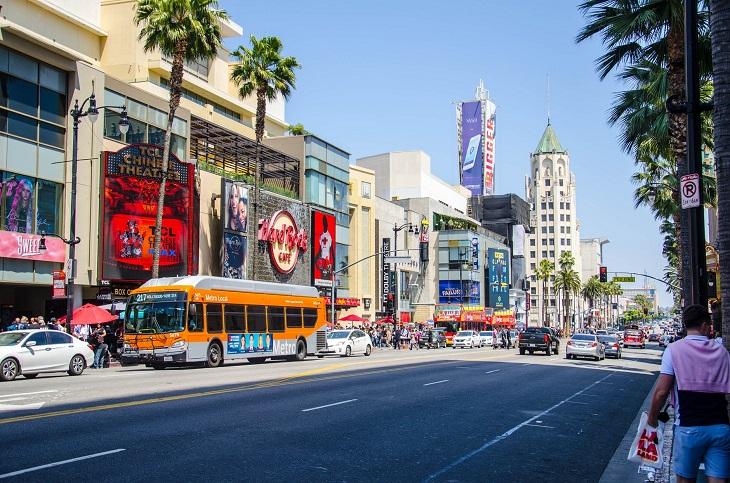 ערים ידידותיות לטבעונים ולצמחוניים: רחוב בלוס אנג'לס