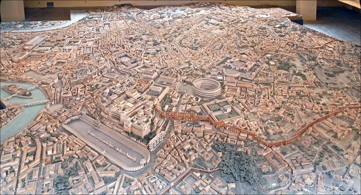 מודל של העיר רומא: מודל העיר רומא במאה ה-4 לספירה