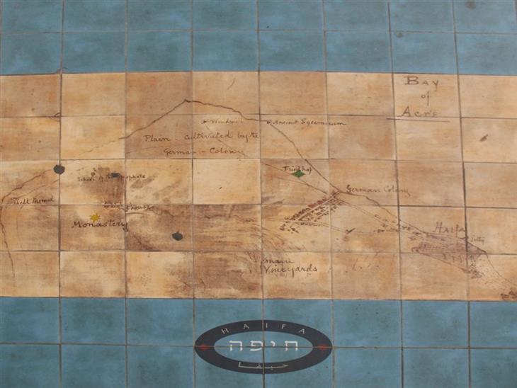 מקומות בארץ שנראים כאילו הגיעו מחול: פסיפס עם מפת חיפה עתיקה