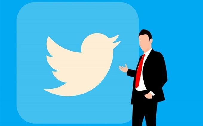 מבחן ידע כללי: איור של גבר ליד הלוגו של טוויטר