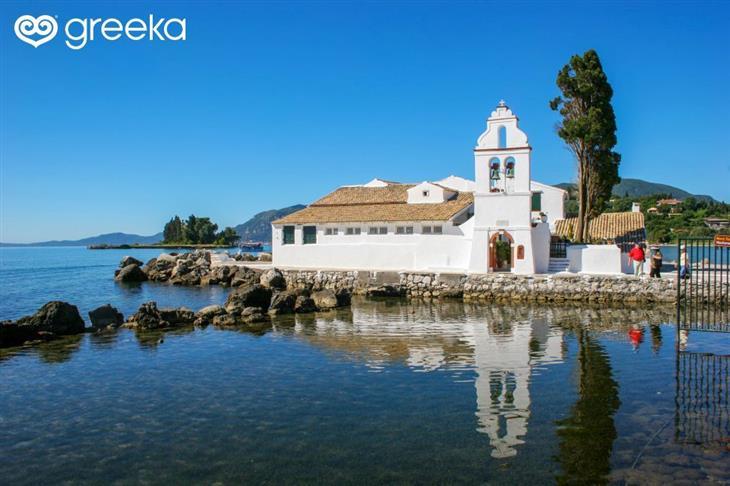 תמונות של האי קורפו: מבנה דת על שפת הים