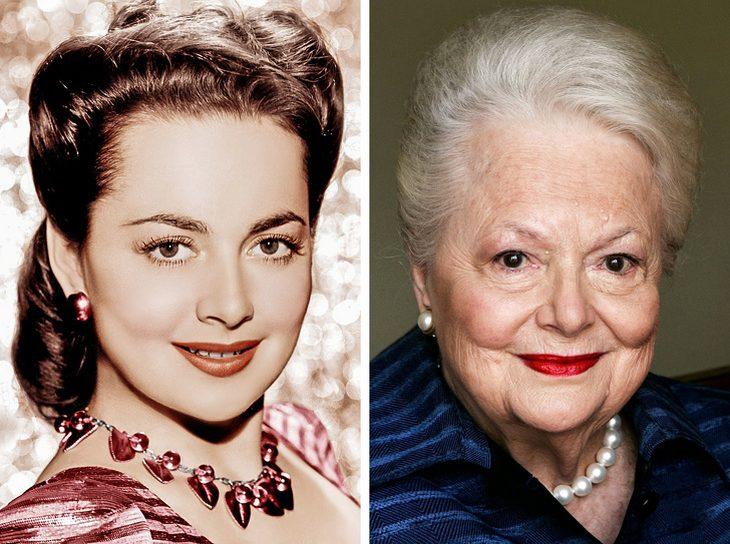 מפורסמים בני 100: אוליביה דה הבילנד בצעירותה והיום