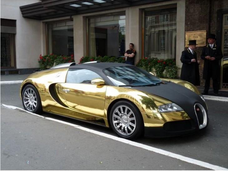 פריטים יקרים: מכונית בוגאטי ויירון מצופה זהב
