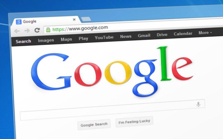 מונחים מתחום האינטרנט: דפדפן שבו מוצג ה-URL של גוגל