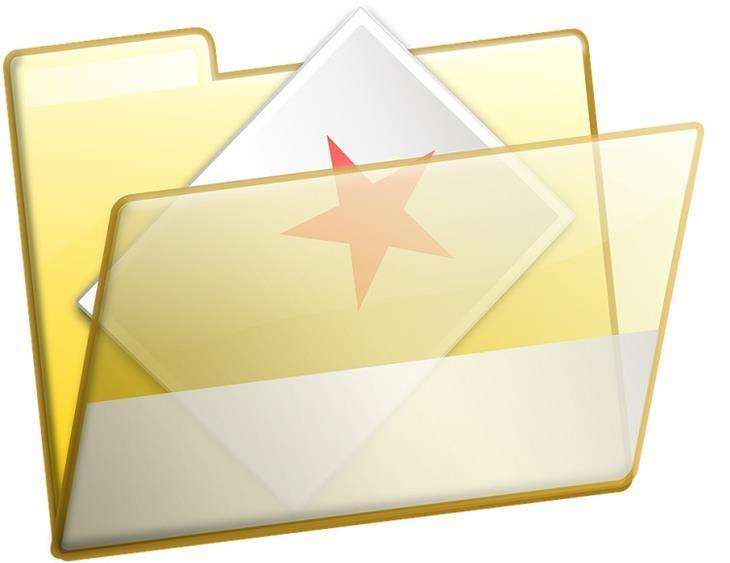 סידור מועדפים: איור של עמוד ועליו כוכב מוכנס לתוך תיקיית מסמכים