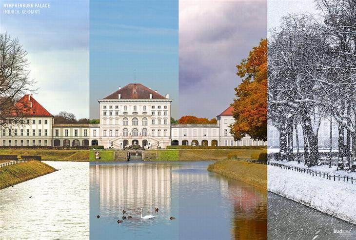 איך נראות עונות השנה במקומות שונים ברחבי העולם: ארמון נימפנבורג