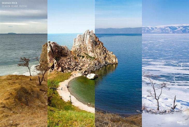 איך נראות עונות השנה במקומות שונים ברחבי העולם: סלע השמאן
