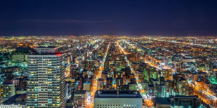 האזורים היפים של יפן: נוף מטרופולוטין בהוקאידו