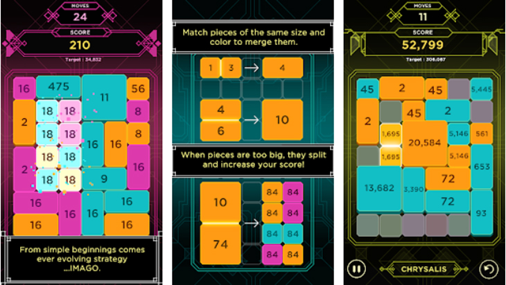 אפליקציות משחקים: תמונות מסך מתוך אפליקציית IMAGO