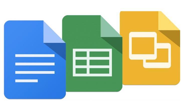 שימוש בכלי גוגל דוקס: אייקונים של כלי גוגל דוקס השונים
