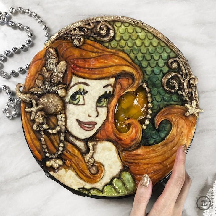 עוגות פאי מעוצבות: עוגה מעוצבת בדמותה של בת הים הקטנה
