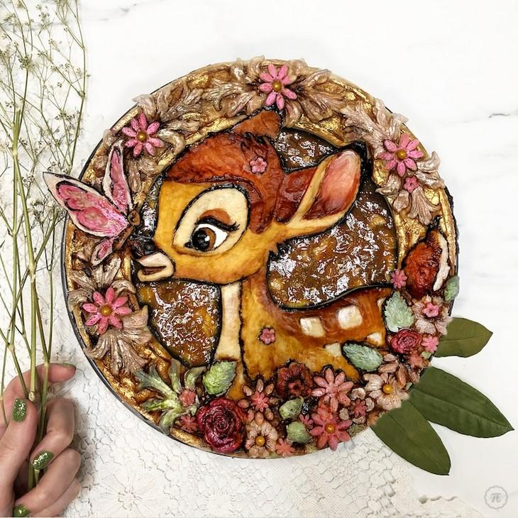 עוגות פאי מעוצבות: עוגה המעוצבת בדמותו של במבי