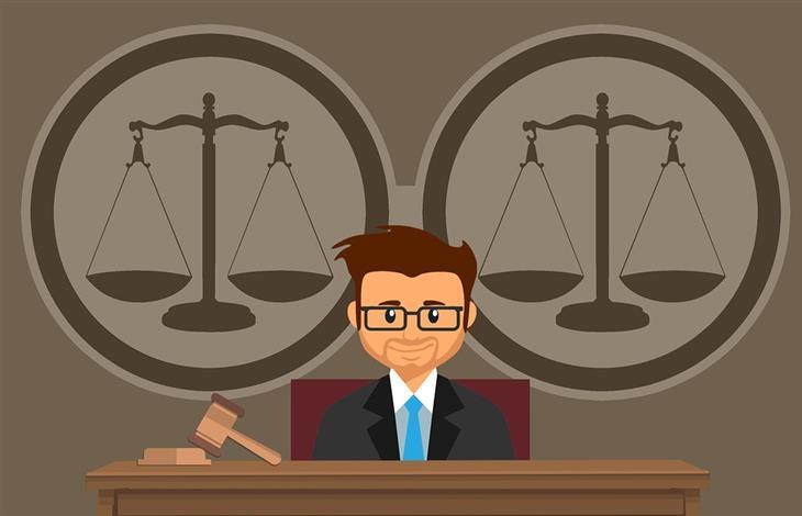 איך לבחור עורך דין פלילי: איור של עורך דין