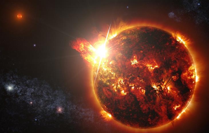 תמונות מהחלל: כוכב שמעטרתו מתקיימת פליטה מסיבית של חלקיקים