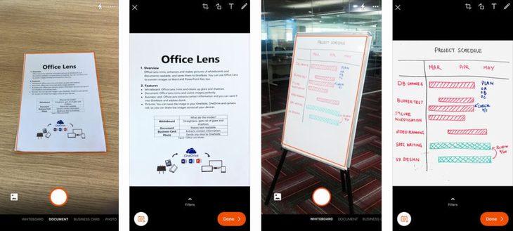 אזהרה בנוגע לאפליקציית CamScanner: צילומי מסך של Microsoft Office Lens