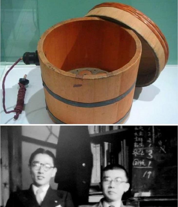 חברות בתחילת דרכן: סיר אורז אלקטרוני של סוני, ותמונה של שני המייסדים